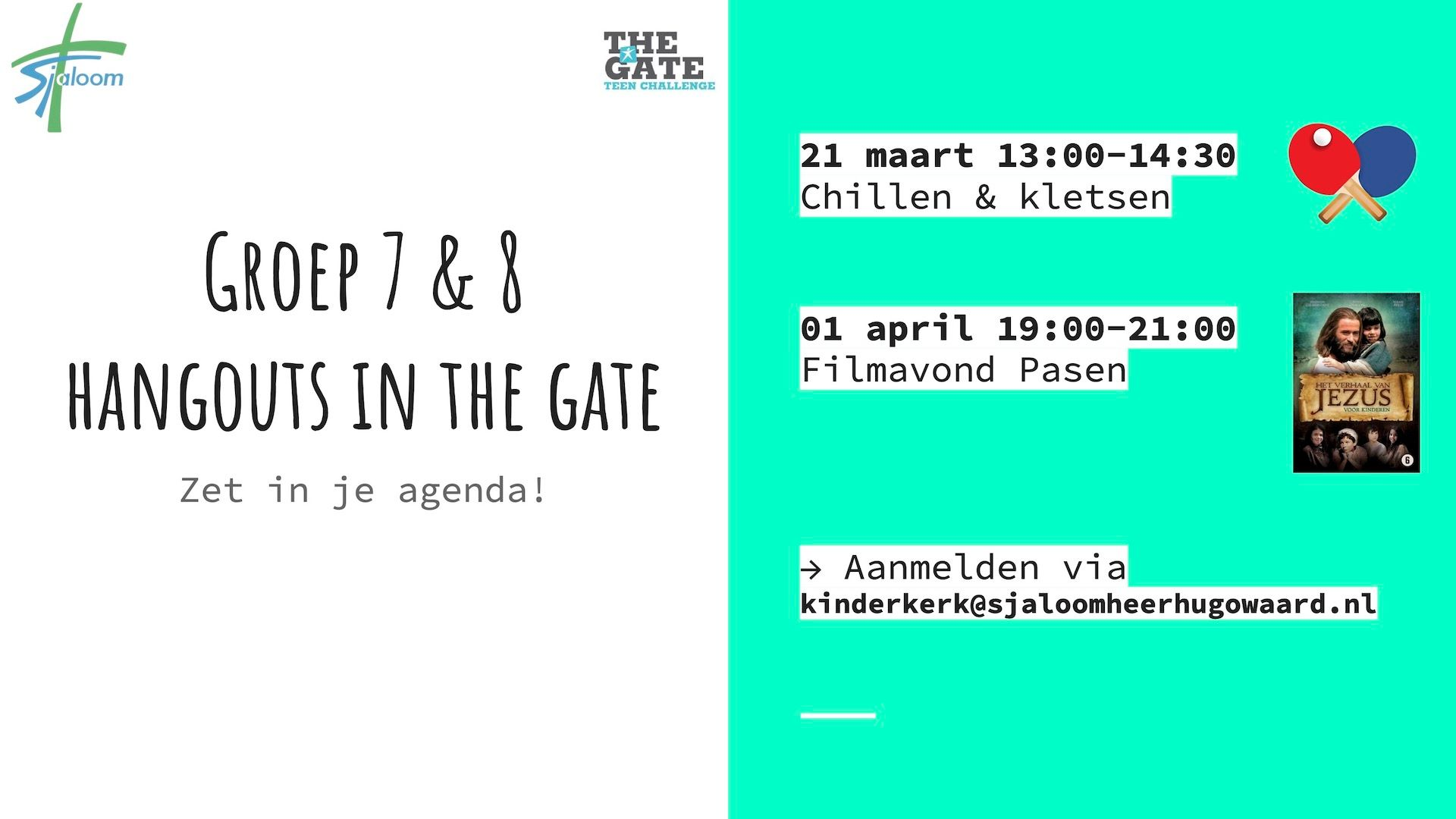 Groep 7 & 8 hangouts in The Gate