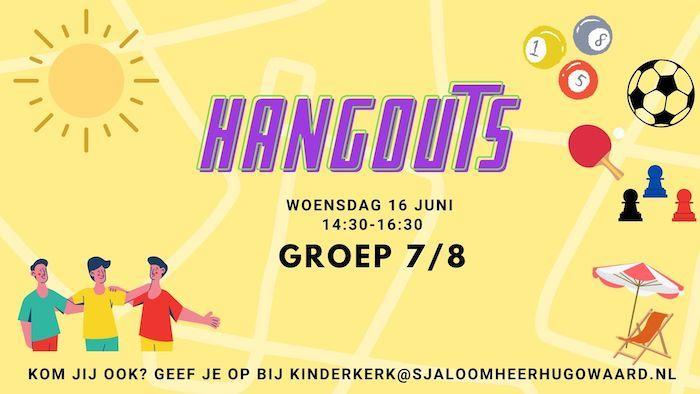 Hangouts kindermiddag groep 7 en 8