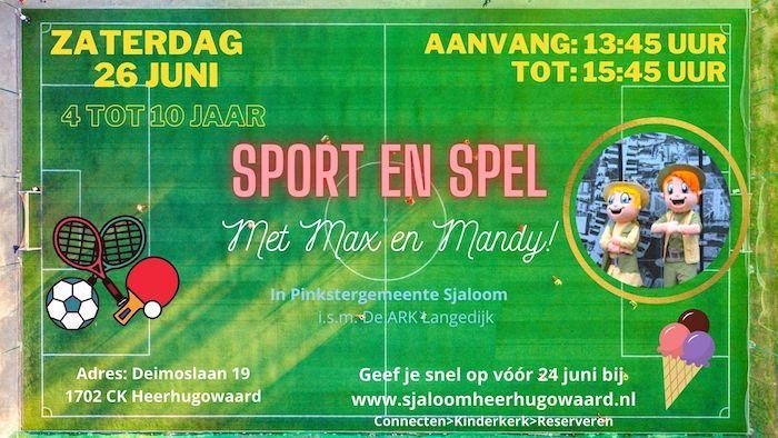 Sport- en spelmiddag voor kinderen in Sjaloom