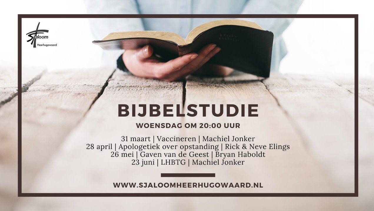 Bijbelstudie door Machiel Jonker (ook livestream)