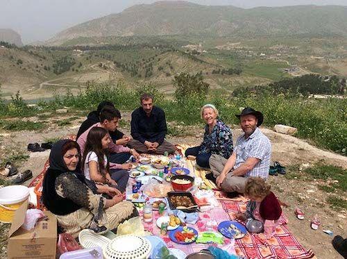 picknick in de heuvels van Koerdistan